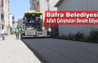 Bafra'da Asfalt Çalışmaları Devam Ediyor