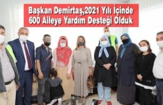 Başkan Demirtaş,2021 Yılı İçinde 600 Aileye...