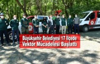 Büyükşehir Belediyesi 17 İlçede Vektör Mücadelesi...