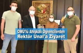 OMÜ'lü Ahıskalı Öğrencilerden Rektör Ünal'a...