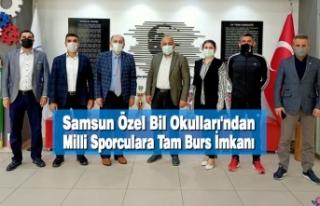 Samsun Özel Bil Okulları'ndan Milli Sporculara...