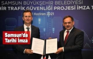 Samsun'da Akıllı Şehir Trafik Güvenliği Projesi...
