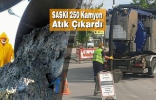SASKİ 250 Kamyon Atık Çıkardı