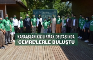AK Partili Karaaslan Kızılırmak Deltası'nda...
