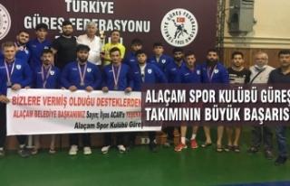 Alaçam Spor Kulübü Güreş Takımının Büyük...