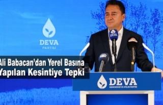 Ali Babacan'dan Yerel Basına Yapılan Kesintiye...