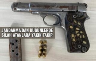 Bafra'da İlçe Jandarma'dan Düğünlerde Silah...