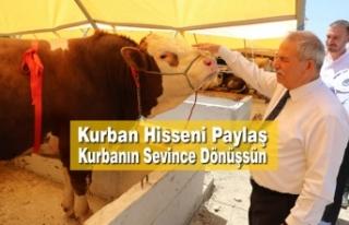 Başkan Demirtaş, Kurbanlarınızı İhtiyaç Sahiplerine...