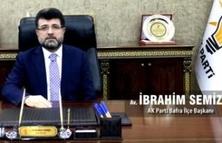 Başkan İbrahim Semiz'den Kurban Bayramı Mesajı