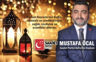 Başkan Mustafa Öcal'dan Kurban Bayramı Mesajı