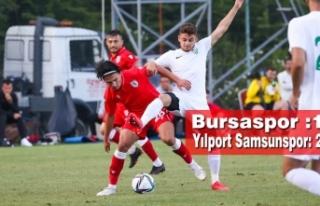 Bursaspor : 1 – Yılport Samsunspor: 2