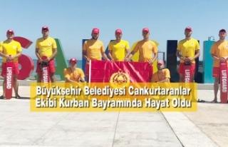 Büyükşehir Belediyesi Cankurtaranlar Ekibi Kurban...