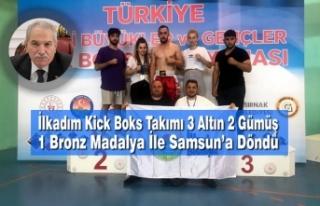 İlkadım Kick Boks Takımı 3 Altın 2 Gümüş 1...