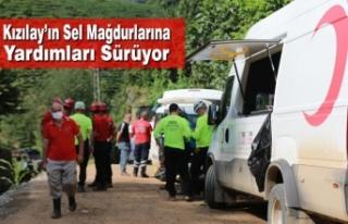 Kızılay'ın Sel Mağdurlarına Yardımları Sürüyor