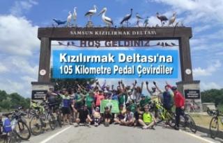 Kızılırmak Deltası'na 105 Kilometre Pedal...