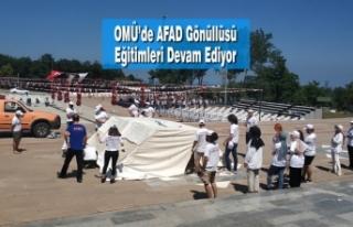 OMÜ'de AFAD Gönüllüsü Eğitimleri Devam Ediyor