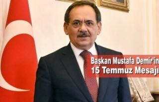 Samsun Büyükşehir Belediye Başkanı Mustafa Demir'in...