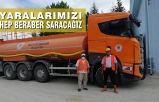 Samsun Büyükşehir Belediyesi Antalya'ya Arazöz...