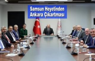 Samsun Heyetinden Ankara Çıkartması