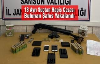 Samsun'da 18 Ayrı Suçtan Kesinleşmiş Cezası...