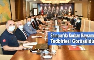 Samsun'da Kurban Bayramı Tedbirleri Görüşüldü