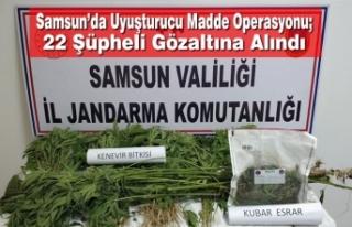 Samsun'da Uyuşturucu Madde Operasyonu; 22 Şüpheli...