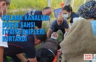 Sulama Kanalına Düşen Şahsı Bafra İtfaiye Ekipleri...