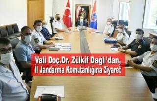 Vali Doç.Dr. Zülkif Dağlı'dan, İl Jandarma...