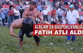 Alaçam'da Başpehlivanlığı Fatih Atlı Aldı