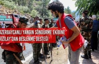 Azerbaycanlı Yangın Söndürme Ekibine Kızılay'dan...