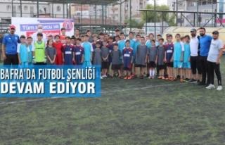 Bafra'da Futbol Şenliği Devam Ediyor