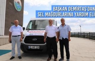 Başkan Demirtaş'dan Sel Mağdurlarına Yardım...