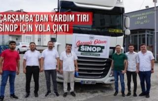 Çarşamba'dan Yardım Tırı Sinop İçin Yola...