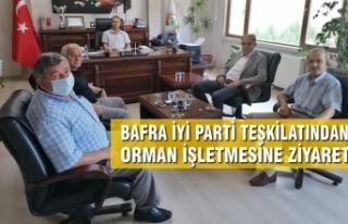 İYİ Parti Bafra Teşkilatından Orman İşletmesine...