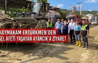 Kaymakam Ertürkmen'den Sel Afeti Yaşayan Ayancık'a...