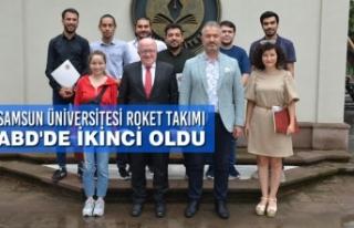 Samsun Üniversitesi Roket Takımı ABD'de İkinci...