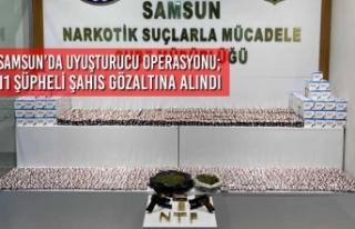 Samsun'da Uyuşturucu Operasyonu; 11 Gözaltı