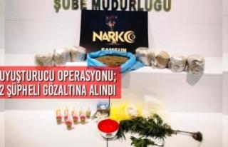 Samsun'da Uyuşturucu Operasyonu; 2 Şüpheli Gözaltına...