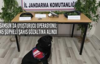 Samsun'da Uyuşturucu Operasyonu; 45 Şüpheli Şahıs...