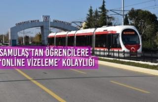 SAMULAŞ'tan Öğrencilere 'Online Vizeleme'...