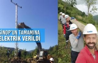 Sinop'un Tamamına Elektrik Verildi