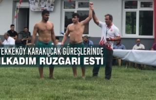 Tekkeköy Karakucak Güreşlerinde İlkadım Rüzgarı...