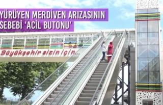Yürüyen Merdiven Arızasının Sebebi 'Acil Butonu'