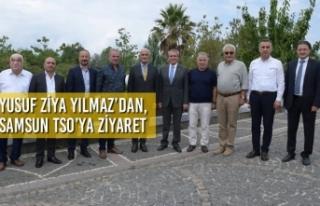 Yusuf Ziya Yılmaz'dan, Samsun TSO'ya Ziyaret