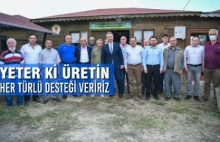 Başkan Demir : Yeter Ki Üretin Her Türlü Desteği...
