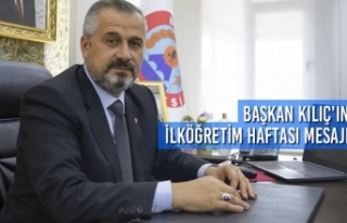 Başkan Kılıç'ın İlköğretim Haftası Mesajı