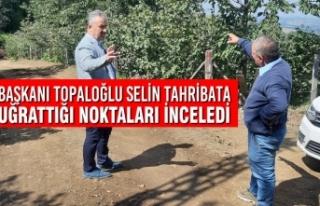 Başkanı Topaloğlu Selin Tahribata Uğrattığı...