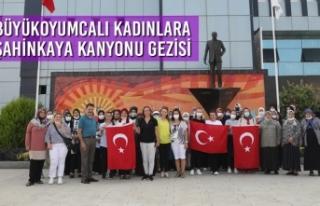 Büyükoyumcalı Kadınlara Şahinkaya Kanyonu Gezisi