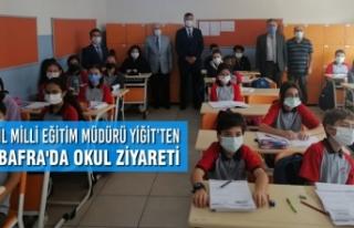 İl Milli Eğitim Müdürü Yiğit'ten Bafra'da...