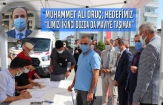 """Muhammet Ali Oruç; """"İlimizi İkinci Dozda Da Maviye..."""